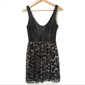 BB Dakota Dress Animal Print & Vegan Leather 0